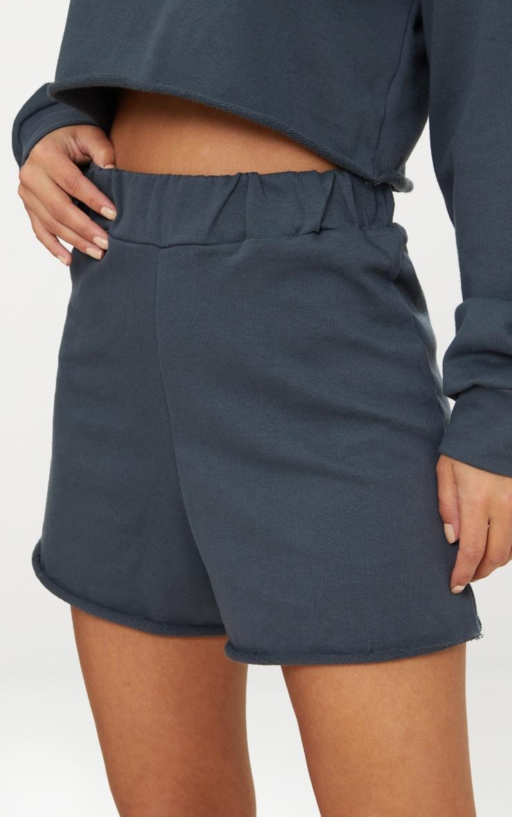 Petite Charcoal Raw Edge Shorts 6