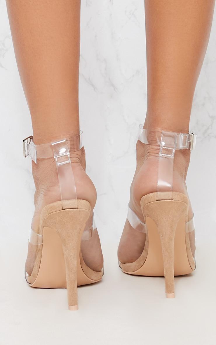 Nude Jewel Heel Sandal 3