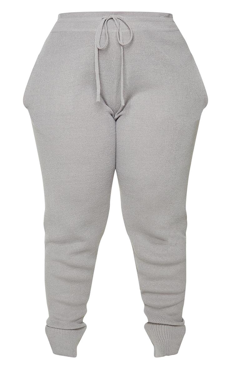 Plus Grey Knit Joggers 5