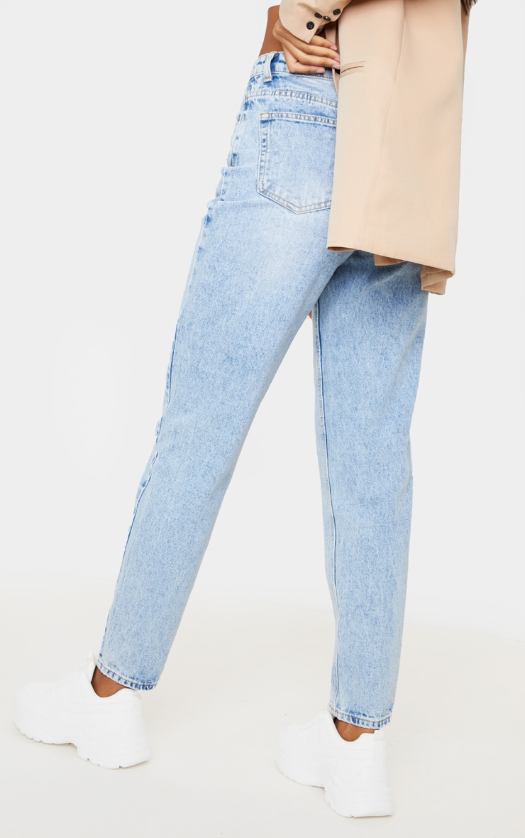 PRETTYLITTLETHING Light Wash Acid Mom Jean 4