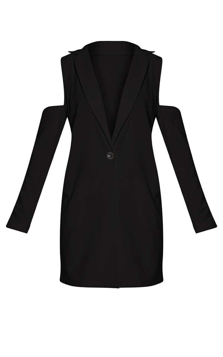 Ora Black Cold Shoulder Blazer 3