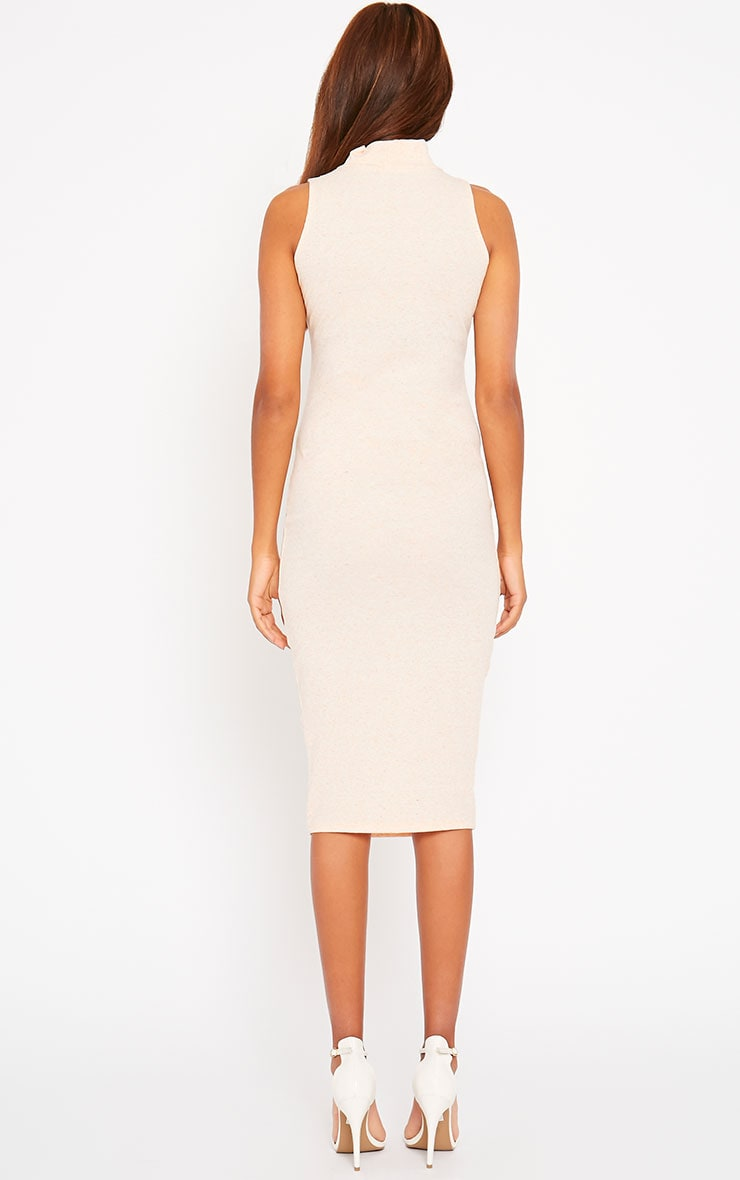 Basic Nude High Neck Dress 2