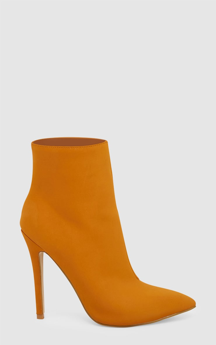 Mustard Heeled Point Ankle Boot 3