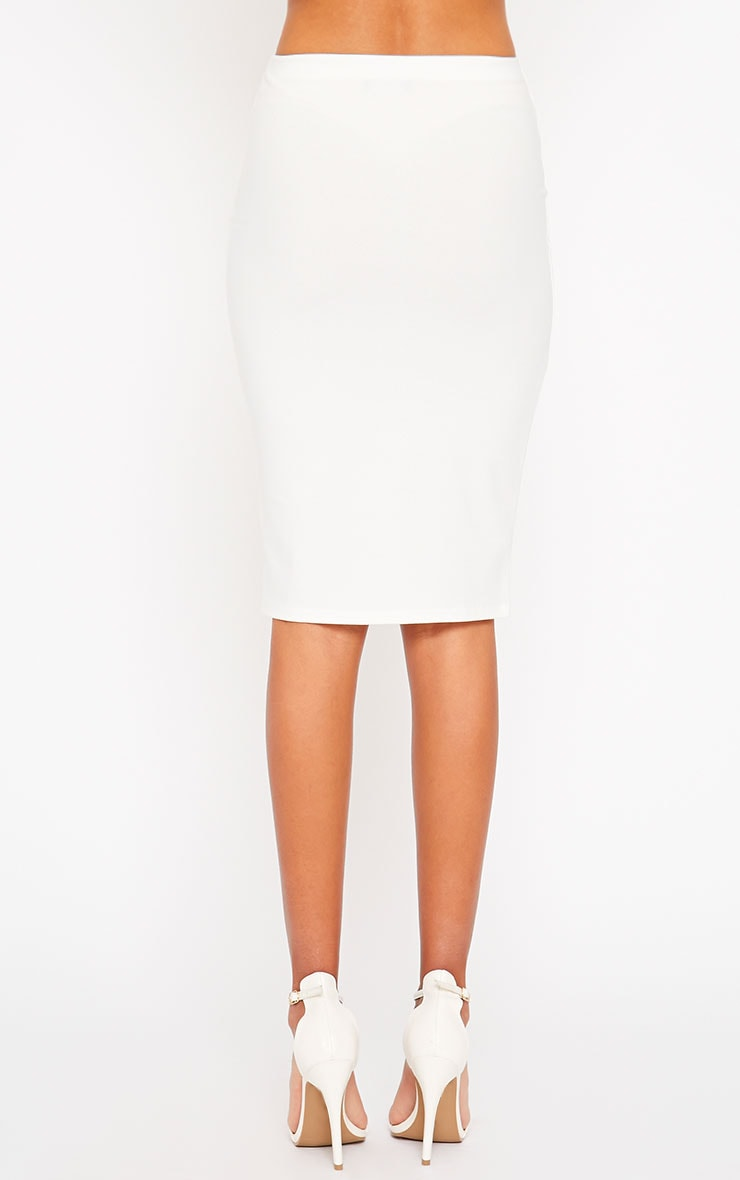 Klarisa Cream Midi Skirt 4