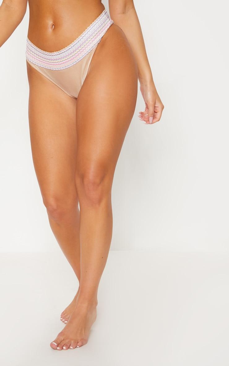 Gold Multi Bandage Bikini Bottom 2