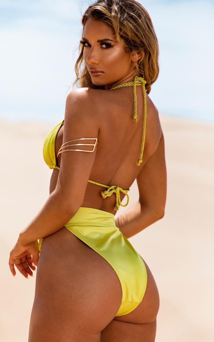 Olive Strappy Rope Bikini Top 2