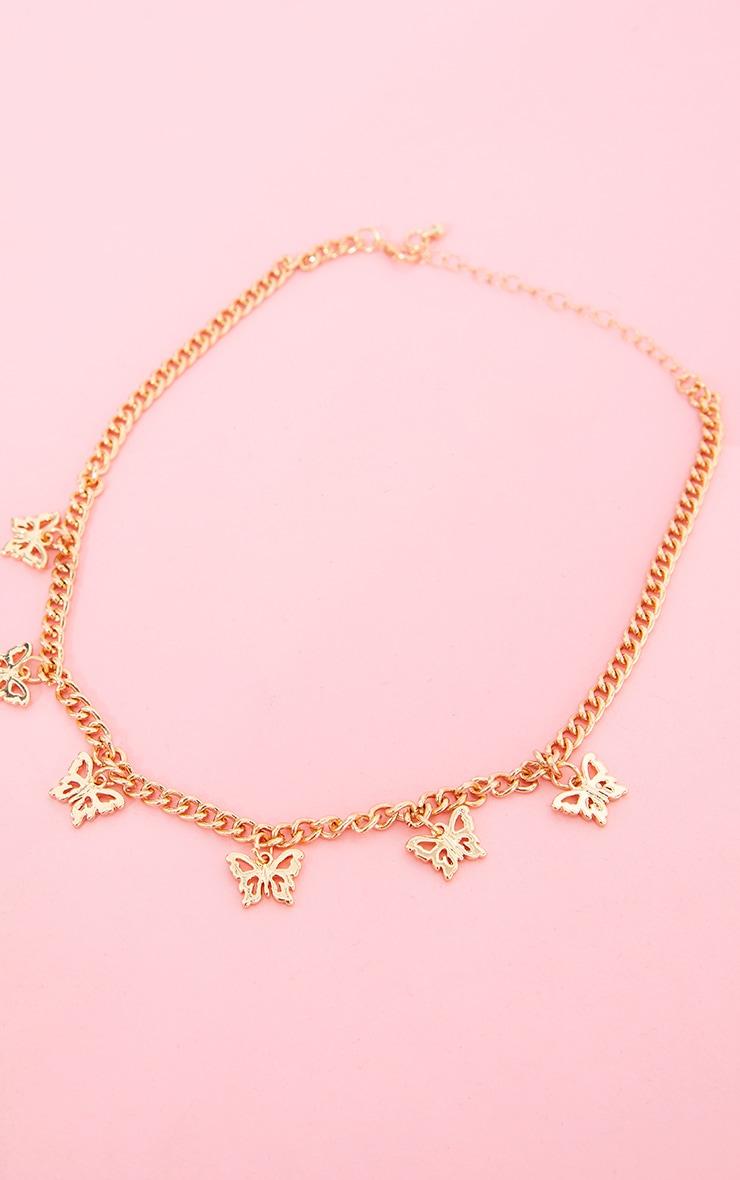 Gold Dainty Multi Butterfly Necklace 3