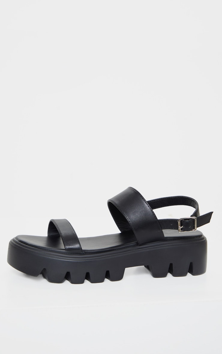 Black Chunky Sole Sandals 4