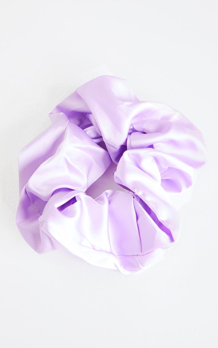Lilac Satin Scrunchie 4