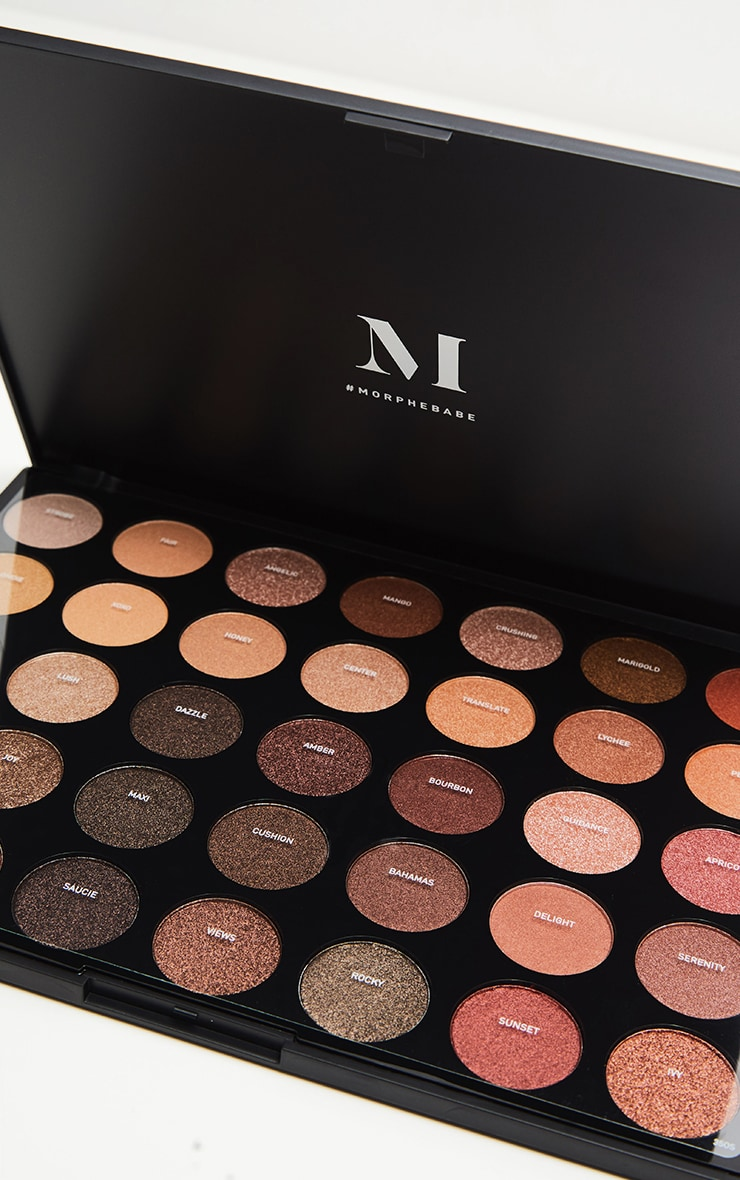 Morphe 35OS Nature Glow Shimmer Eyeshadow Palette 2
