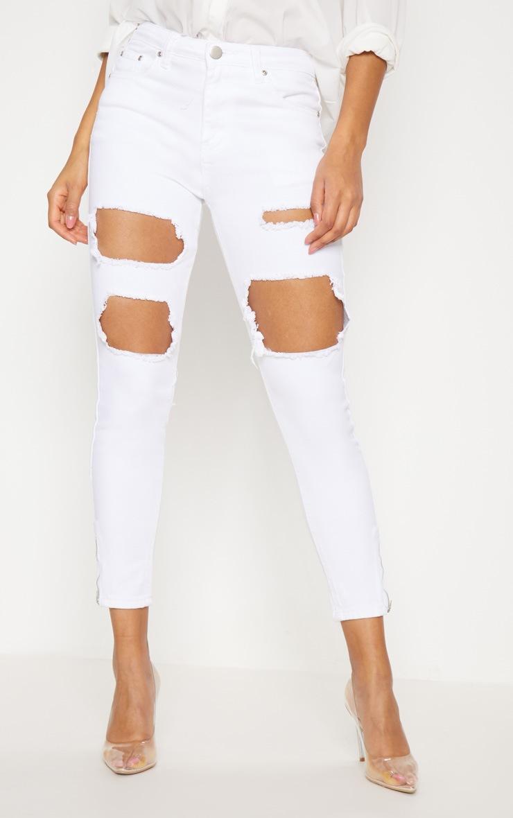Extreme Rip White 5 Pocket Skinny Jean 2