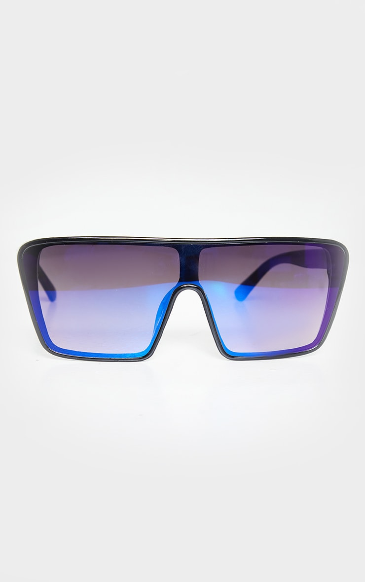 Blue Oversized Squareframe Sunglasses 3
