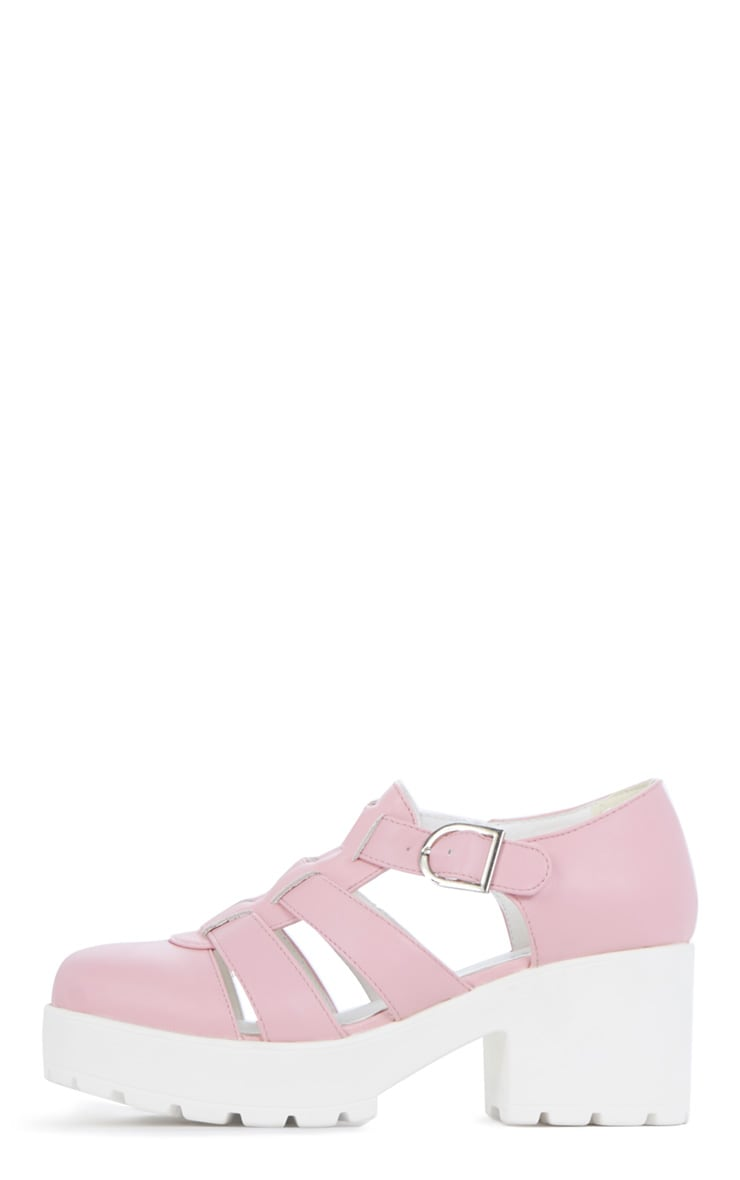 Rachel Pink Cut Out Cleated Shoe 1