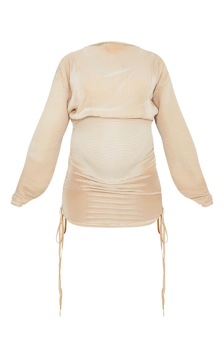 Maternity Stone Plisse Bodycon Mini Dress 5