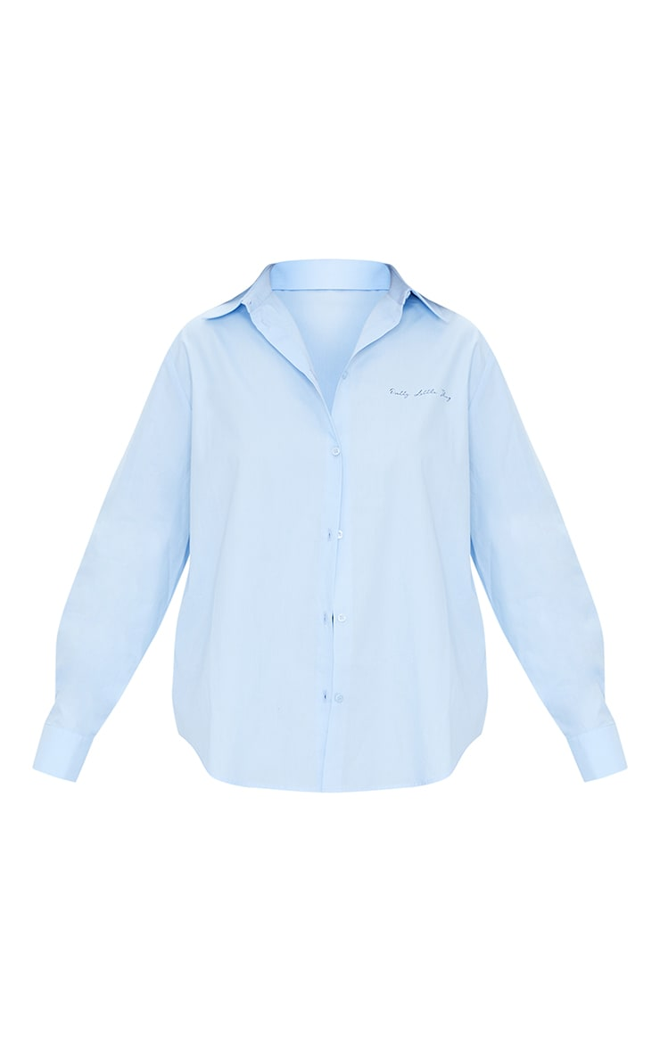 PRETTYLITTLETHING Ice Blue Printed Shirt 5