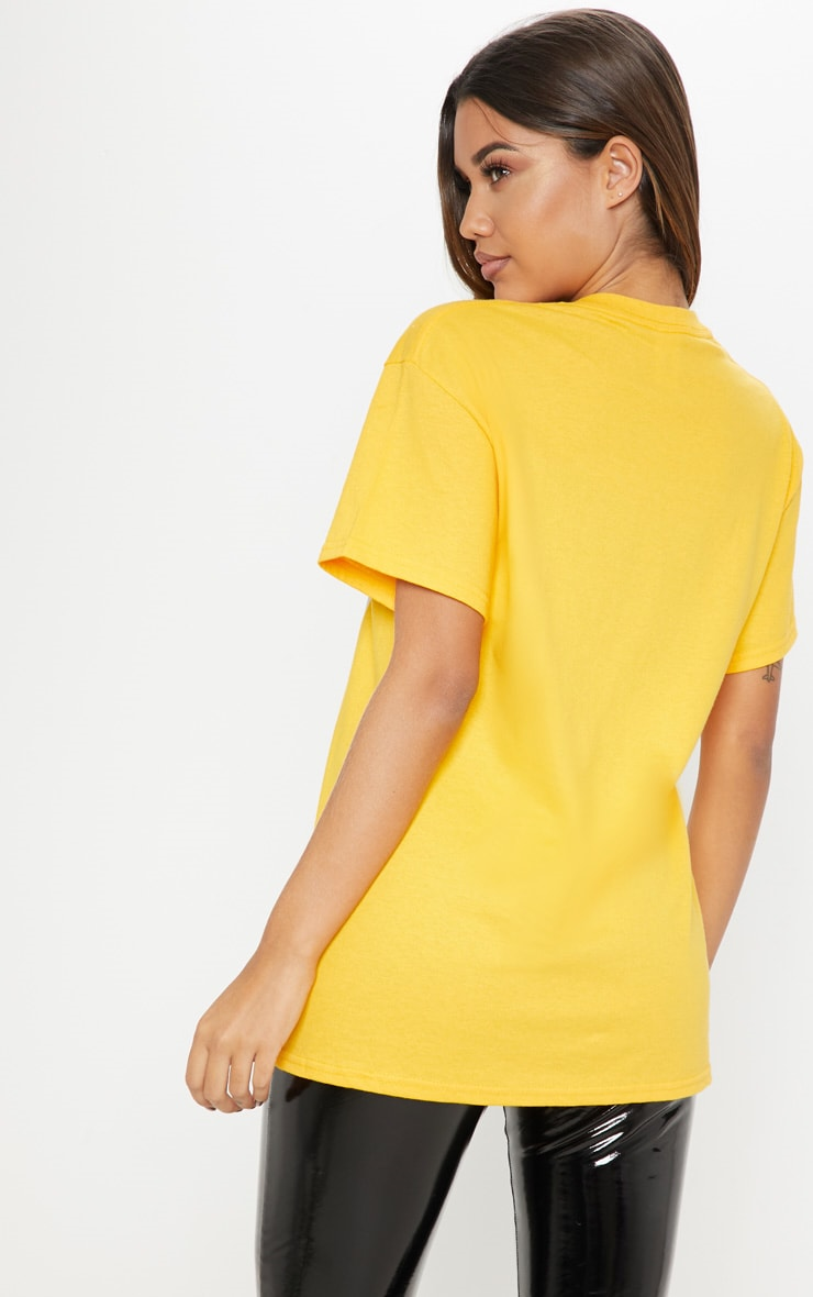 Yellow Adore Panther Oversized T shirt 2