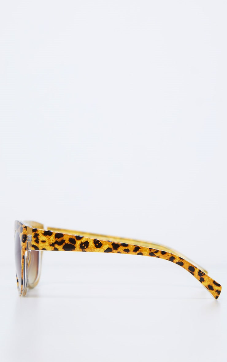 Brown Speckled Oversized Cat Eye Sunglasses 4