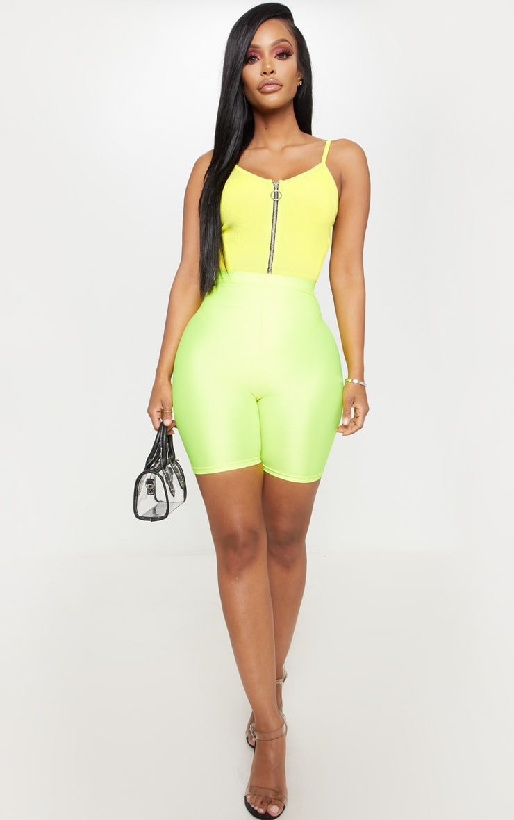 Shape Neon Lime Ribbed Ring Pull Bodysuit 5