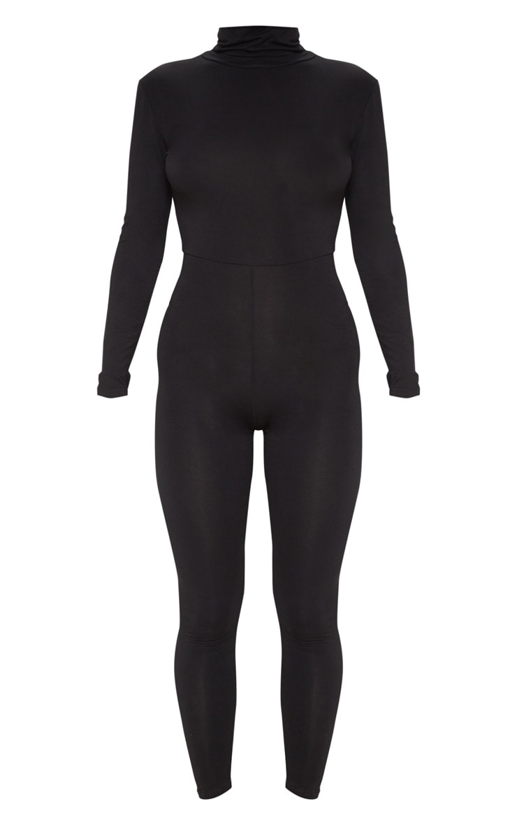 Black Roll Neck Long Sleeve Jumpsuit 3