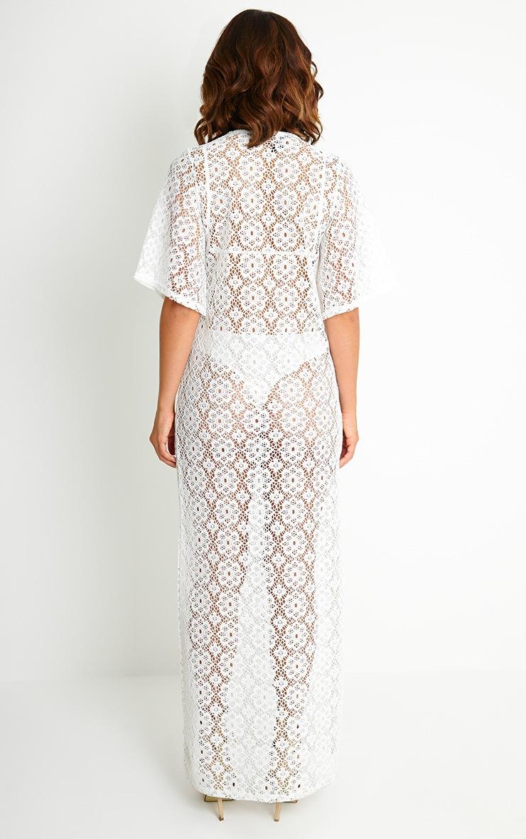 Shona Cream Crochet Maxi Dress 2