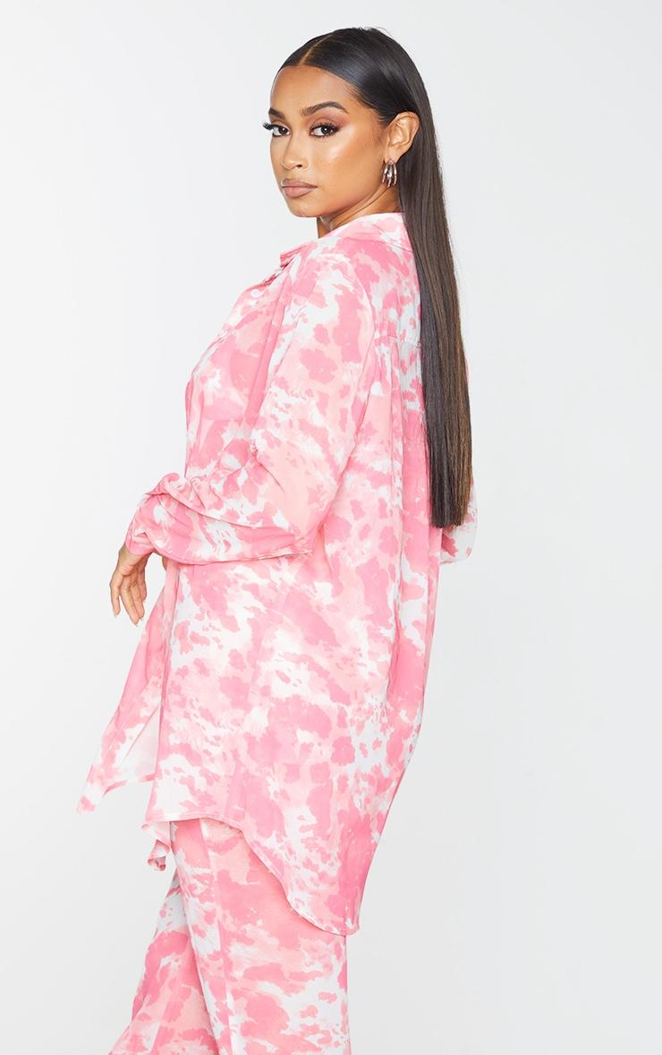 Pink Cow Print Beach Shirt 2