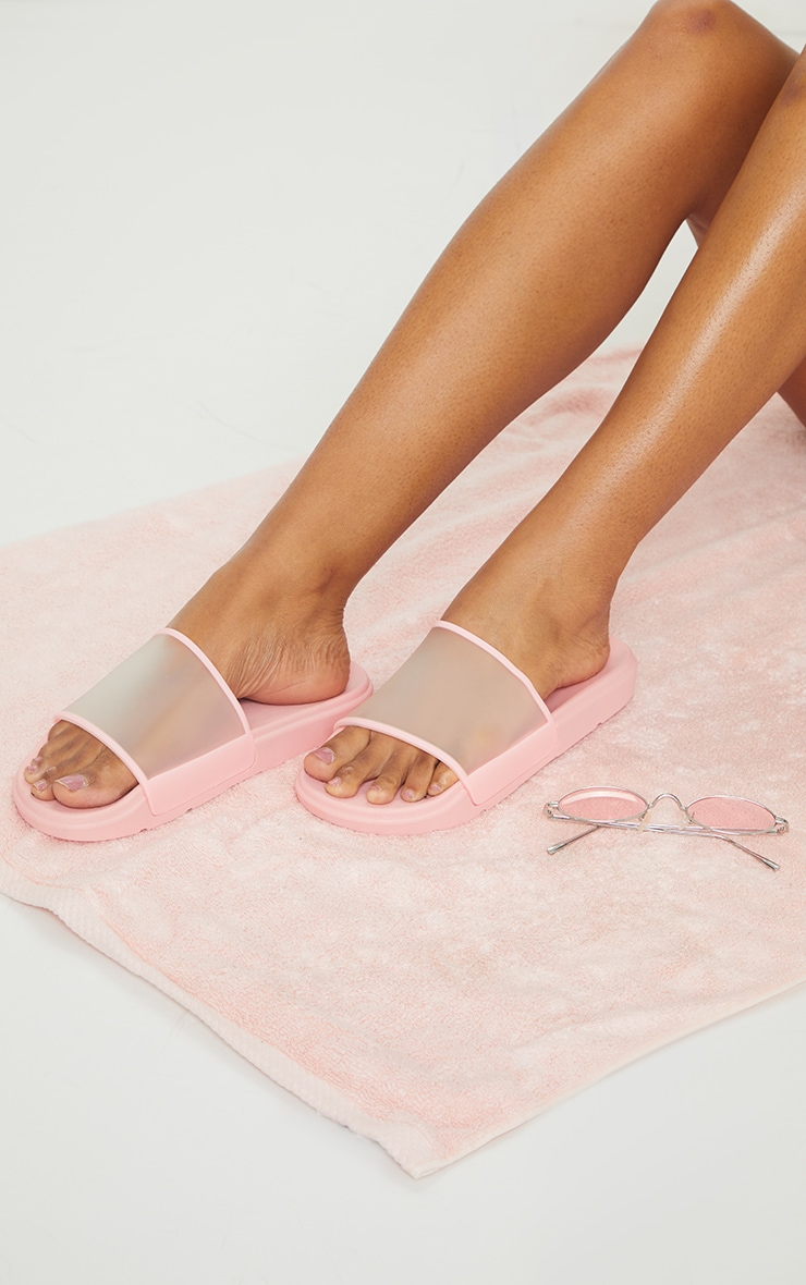 Pink Transparent Chunky Sliders 1