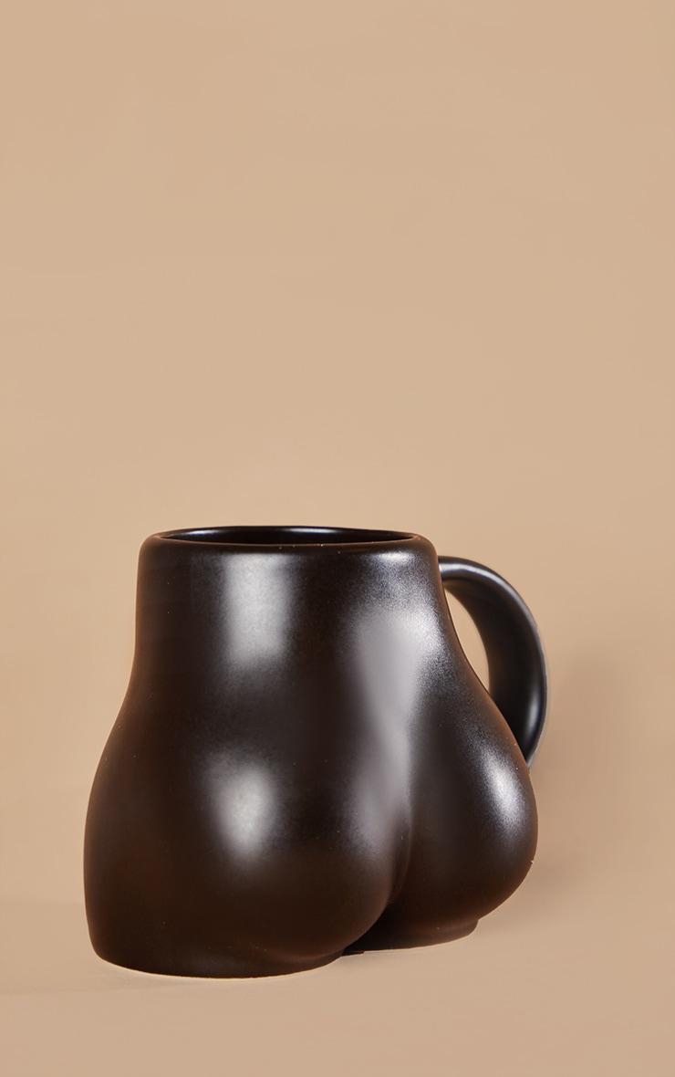 Mug fesses en céramique noire 4