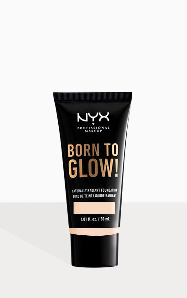 NYX PMU Born To Glow Naturally Radiant Foundation Light Porcelain 30ml 1