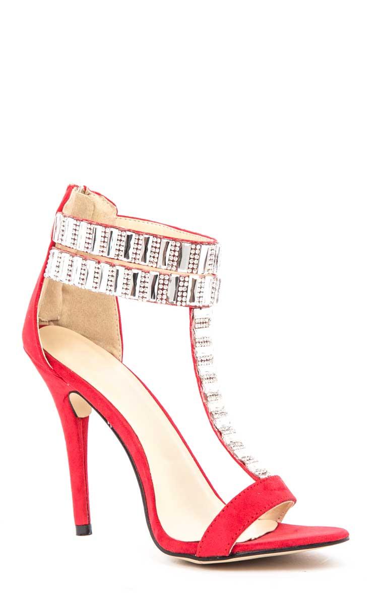 Rosie Red Diamante Stiletto Heels 2