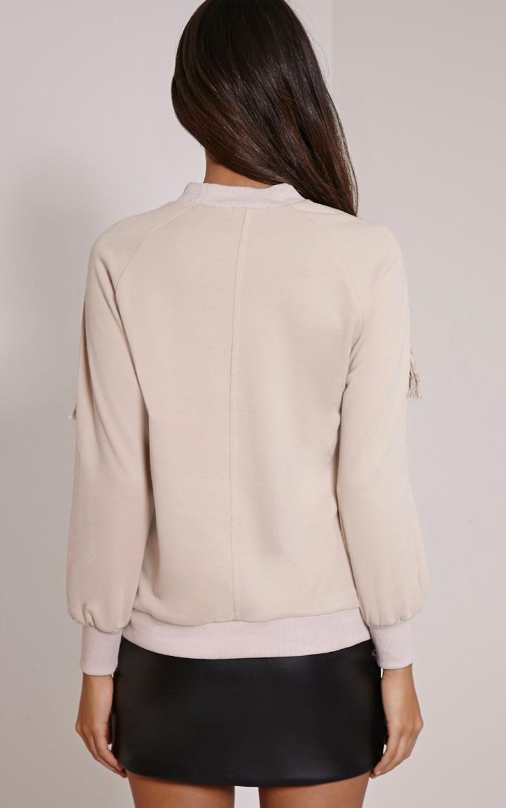 Selena Stone Fringe Sweater 2
