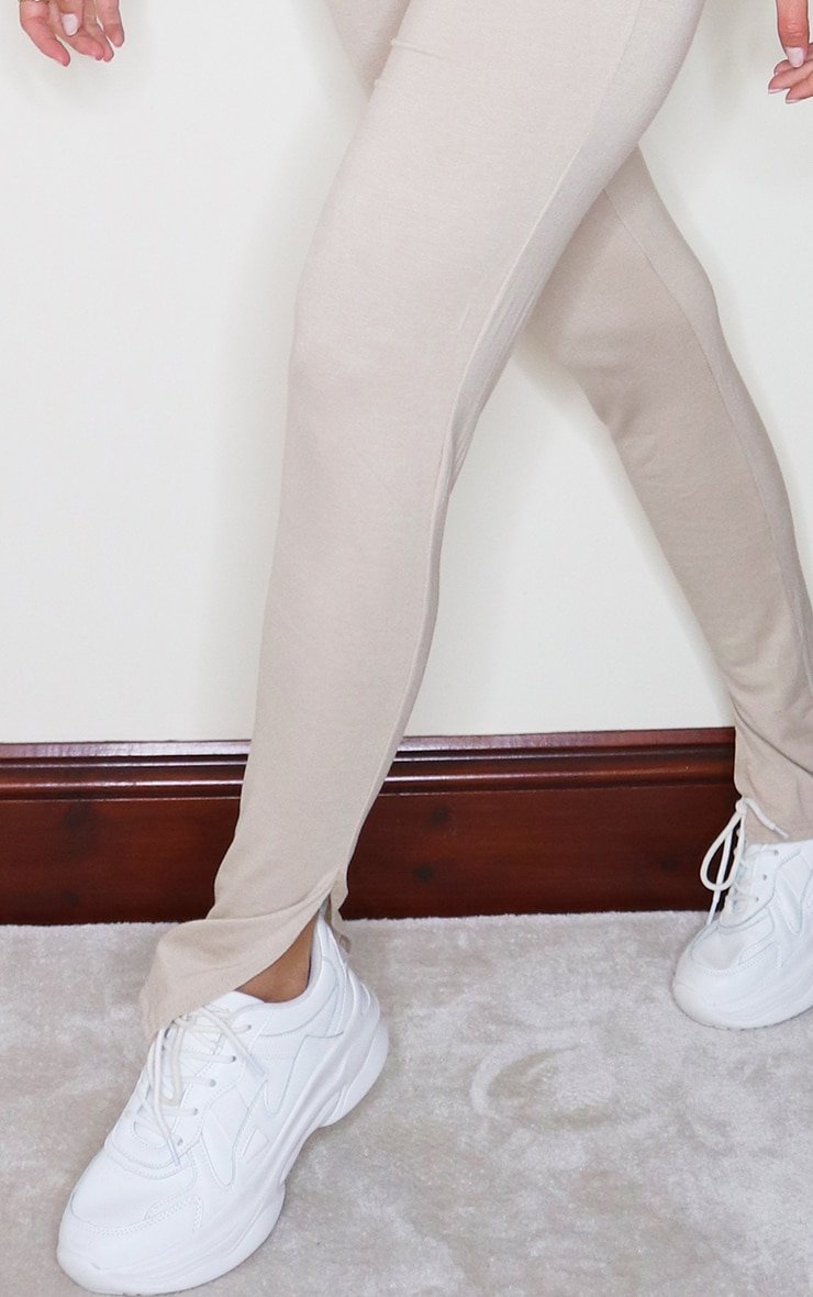 Stone Jersey Split Hem Leggings 4