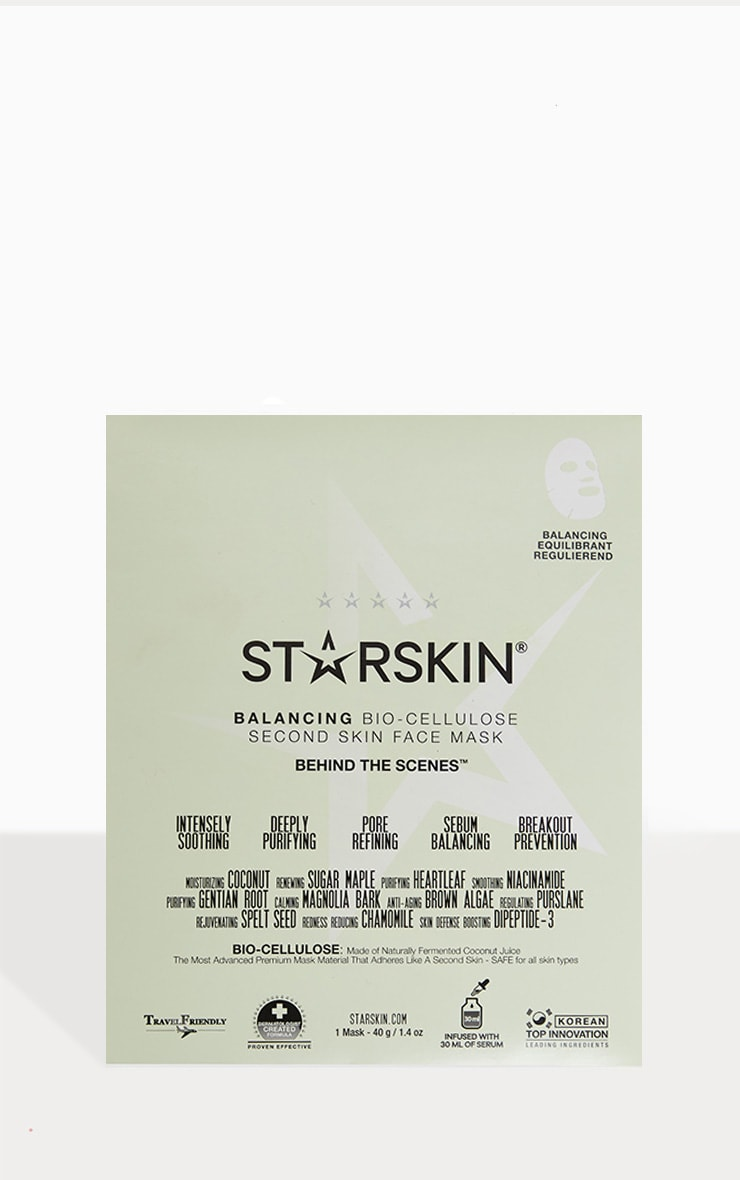 Starskin Behind The Scenes Coconut Bio Cellulose Balancing Face Mask 1