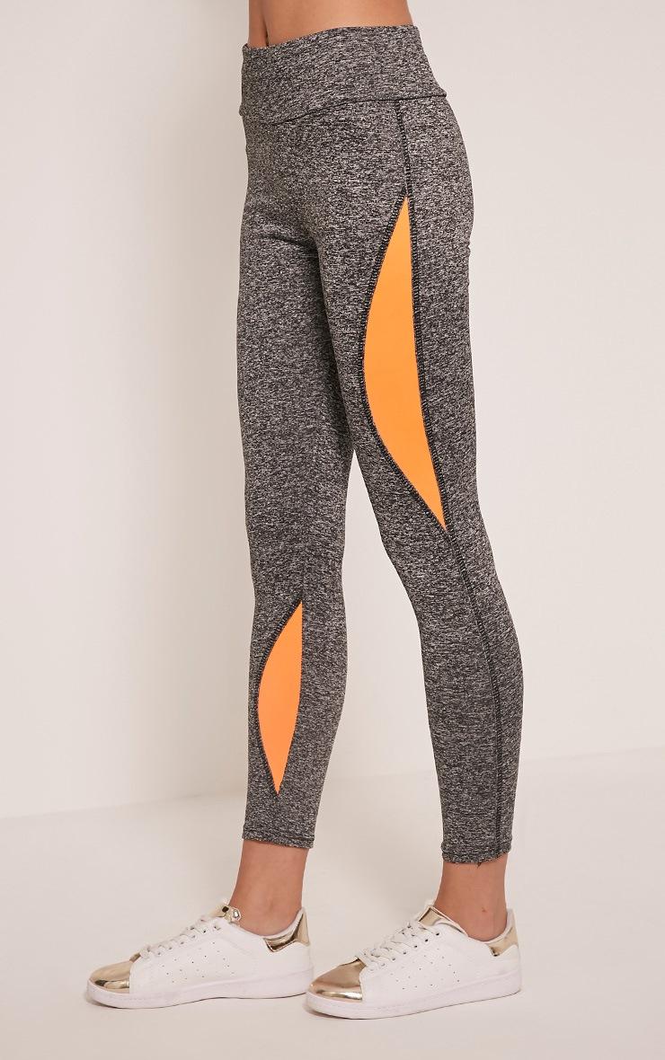Jennie leggings sport à bandes orange 4