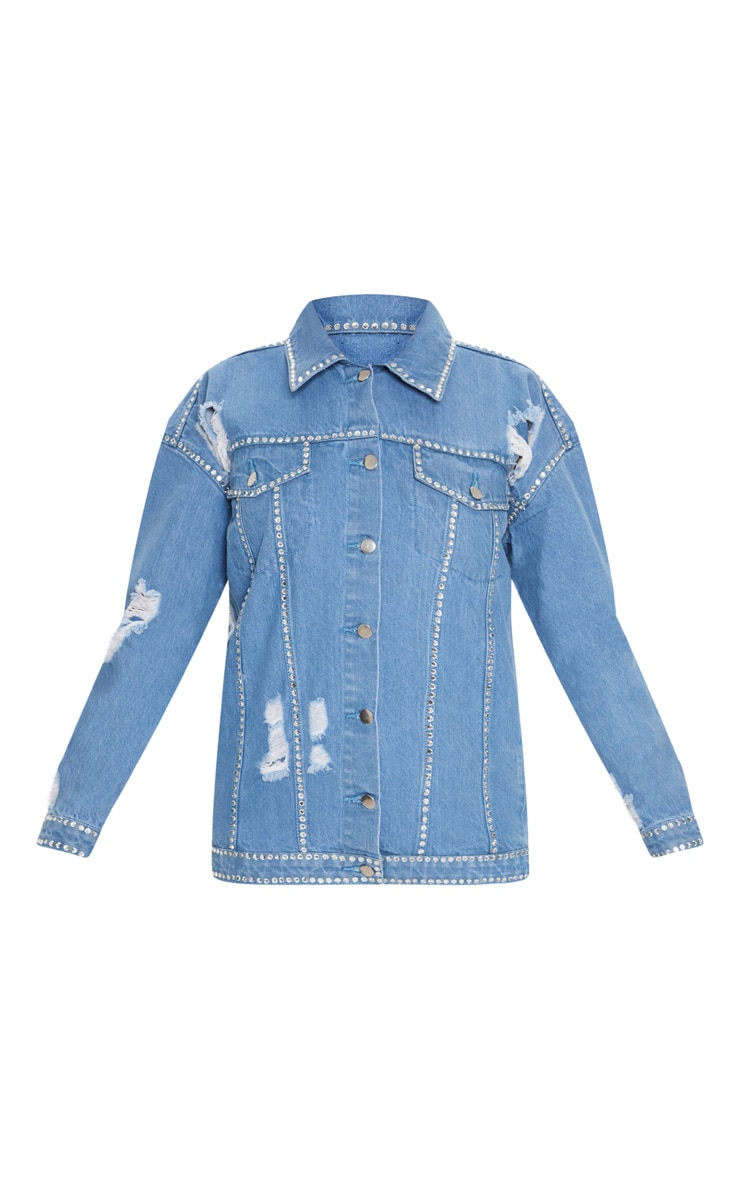 Pale Vintage Diamante Studded Jacket 3
