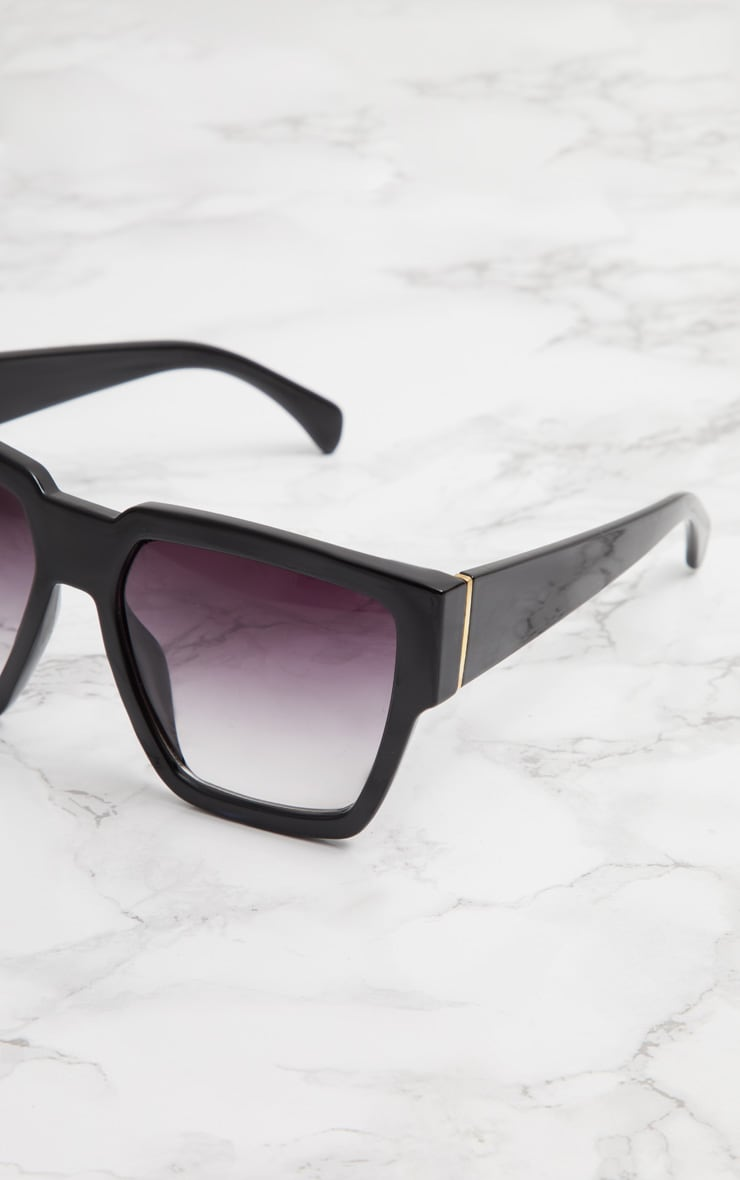 Black Oversized Square Sunglasses 3