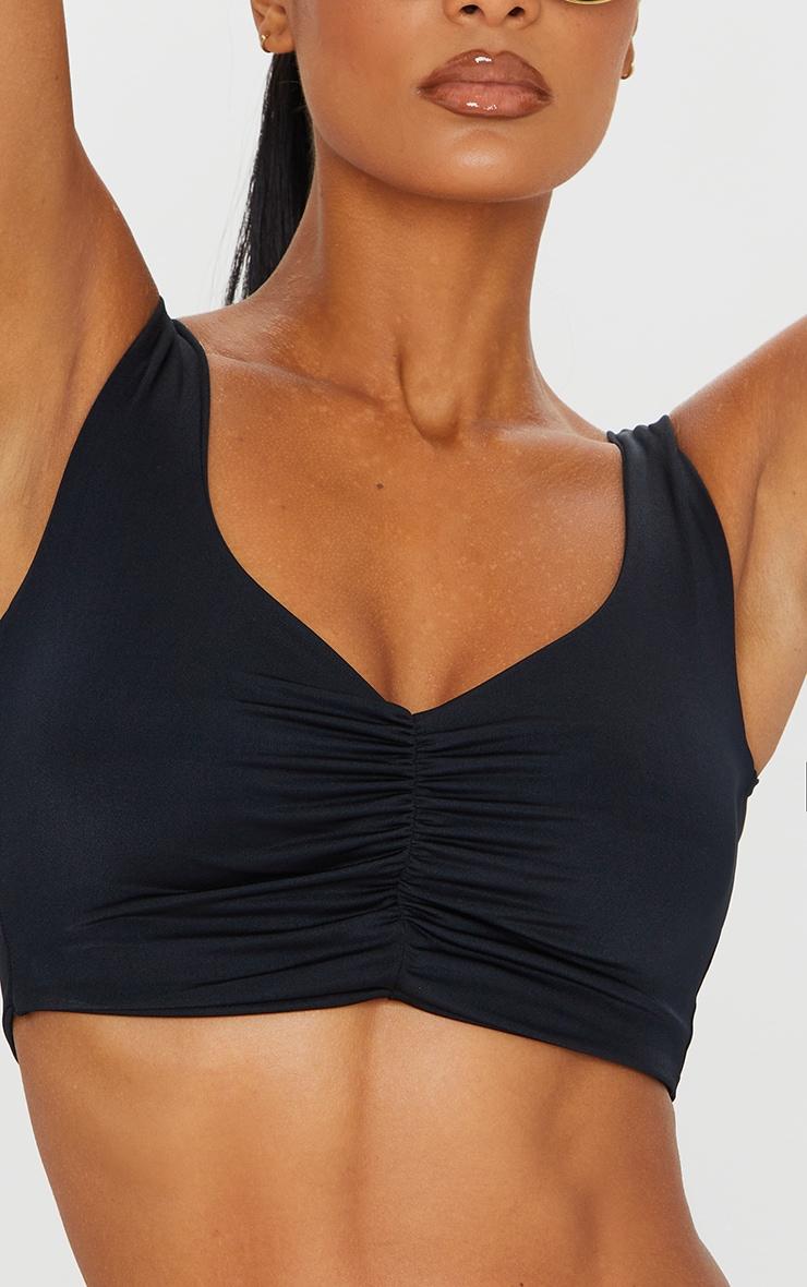 Black Mix & Match Ruched Front Bikini Top 4
