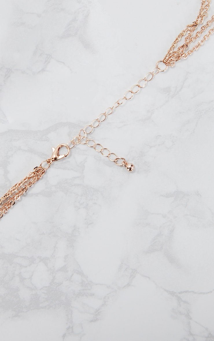 Norie Rose Gold Multi Layered Lion Necklace 5