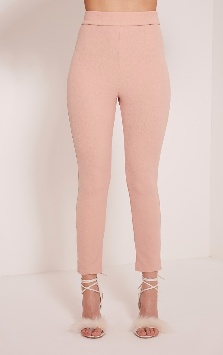 Evalyn Blush Cropped Trousers 2