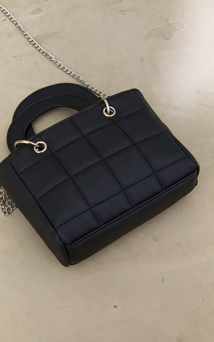 Black Quilted Mini Handbag 3