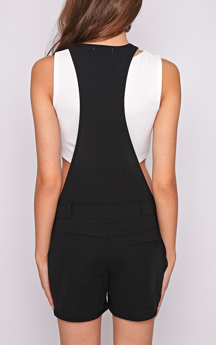 Willow Black Zip Detail Playsuit -L 2