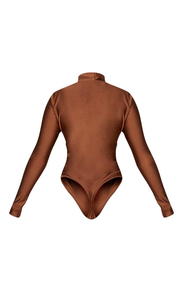 Chocolate Disco High Neck Long Sleeve Bodysuit 6