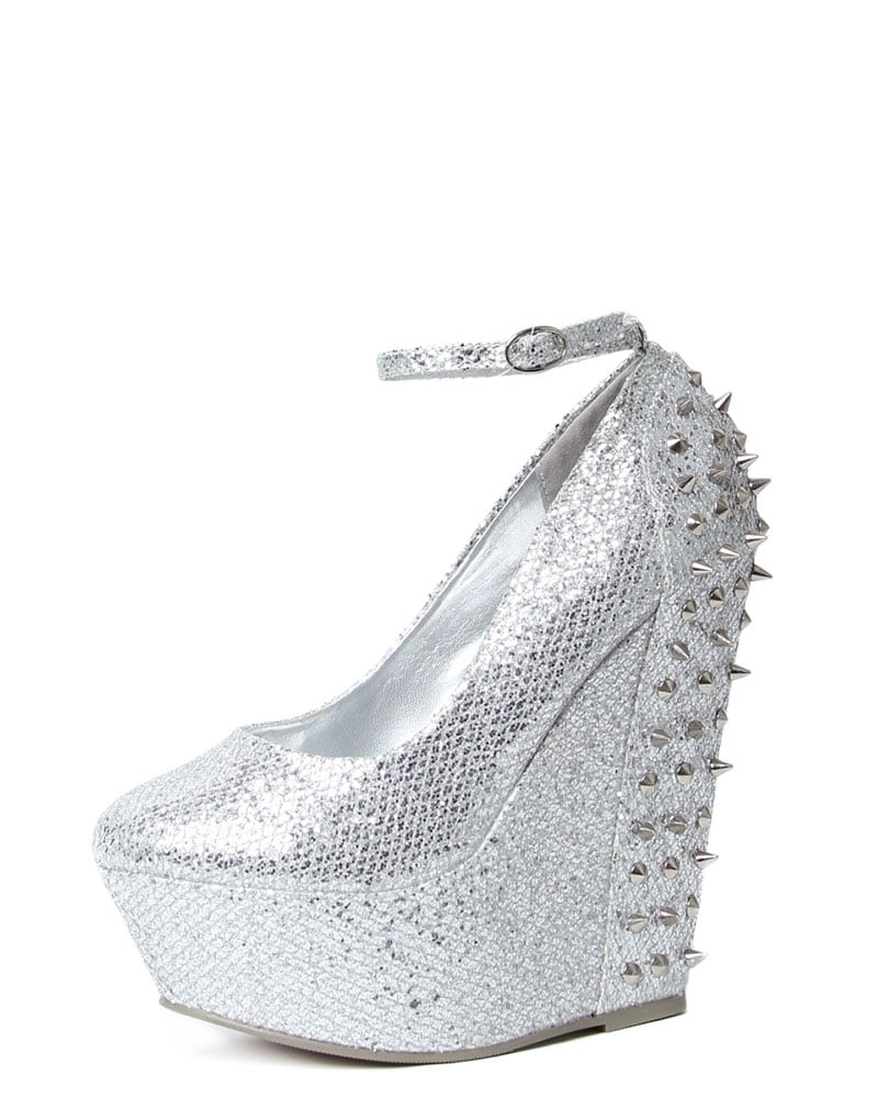 Kennedy Silver Spike Wedge  4