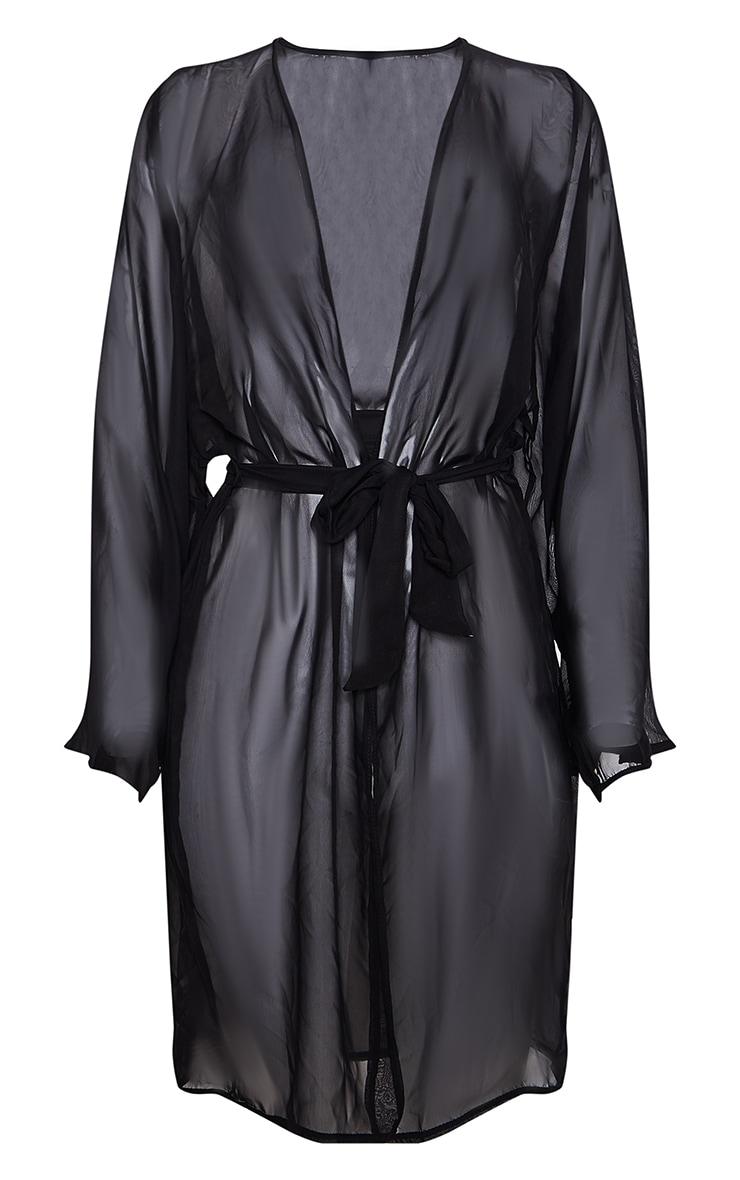 Black Wide Sleeved Kimono 3