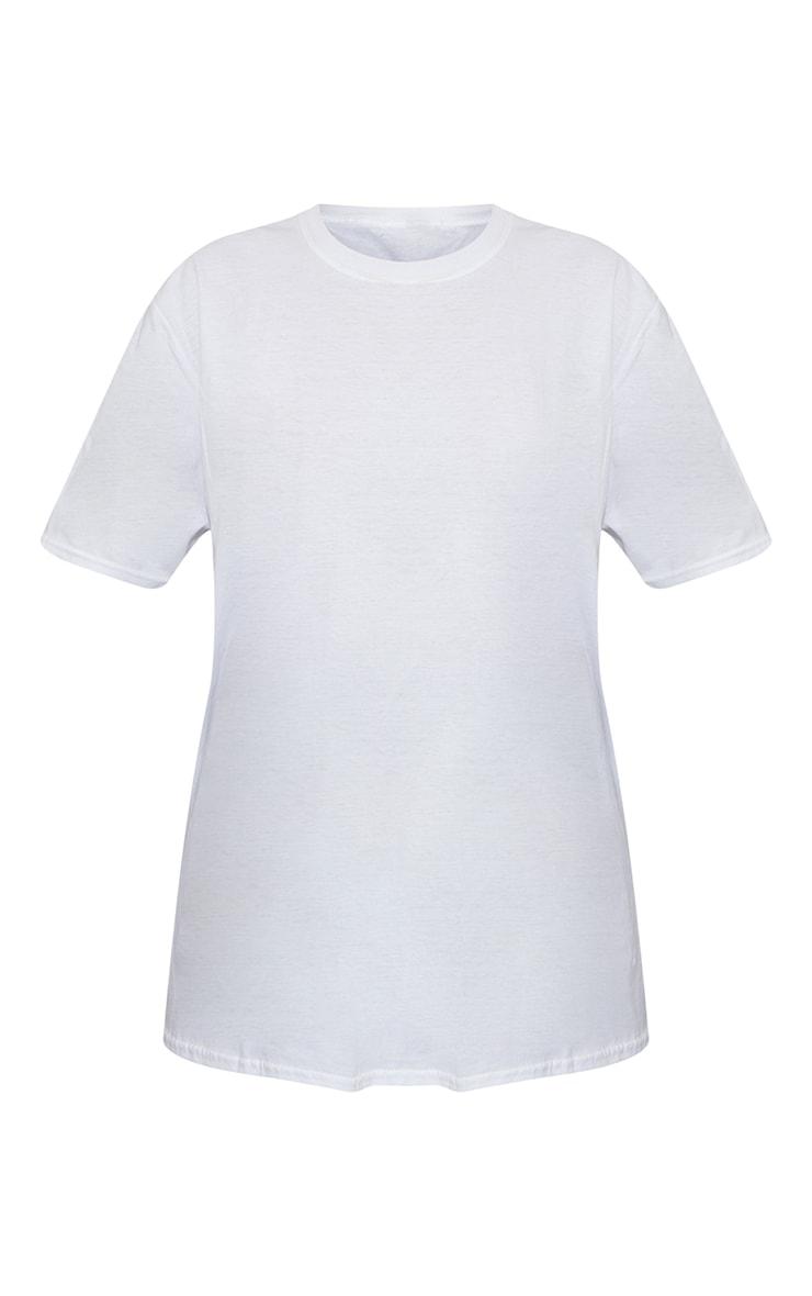 White Future Ying Yang Back Print Washed Oversized T Shirt 5