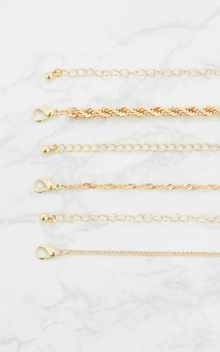 Gold Triple Layered Chunky Necklace 5