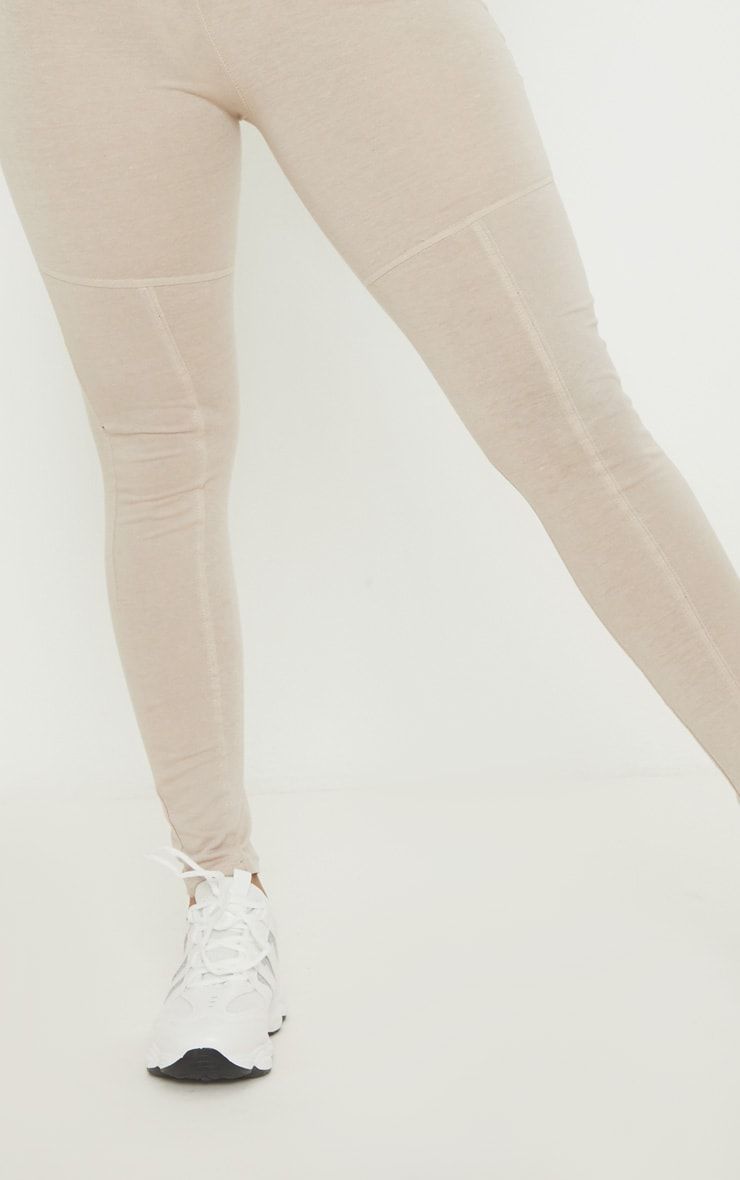 Oatmeal Marl Panel Gym Legging 5