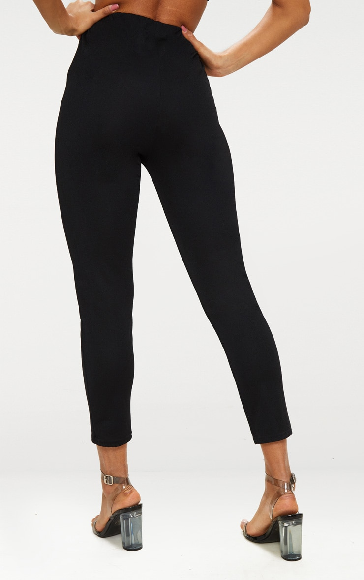 Black Super High Waisted Popper Front Trouser 3