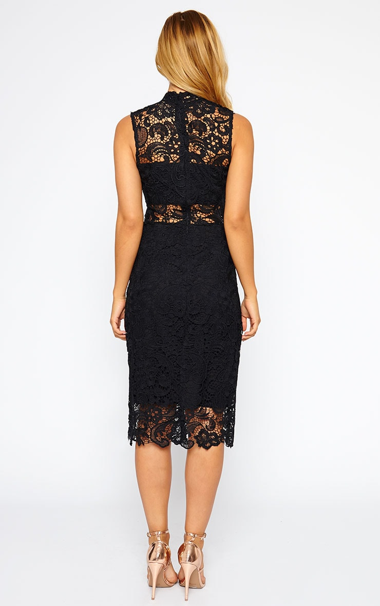 Lena Black Lace Midi Dress 2
