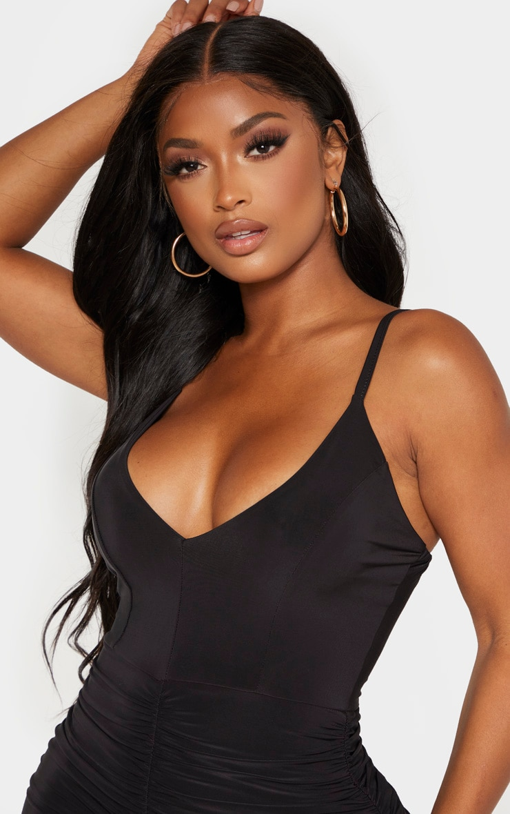 Shape Black Strappy Ruched Mini Dress 5
