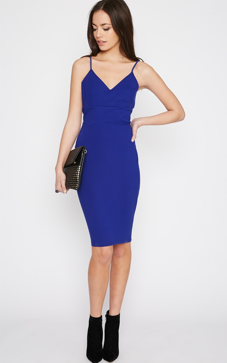 Zoey Cobalt Strappy Bodycon Dress 3